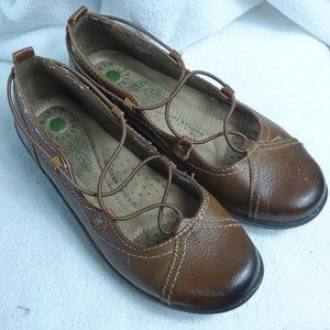 Earth Origins London Brown Ghillie Lace Flat